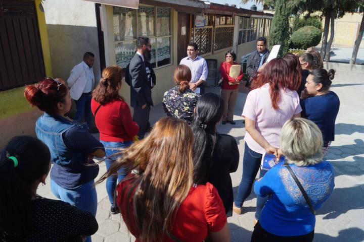 Alcalde refuerza la infraestructura educativa de la primaria Francisco Sarabia