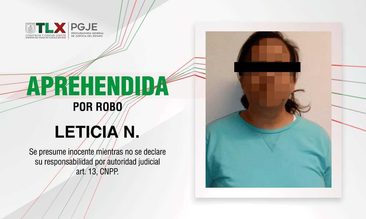 Capturan Tlaxcala y Puebla a mujer por robo a notaría pública de Huamantla