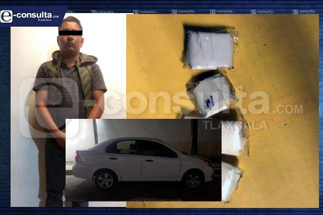 La SSC asegura a una persona por la posesión ilegal de narcóticos en Tetla