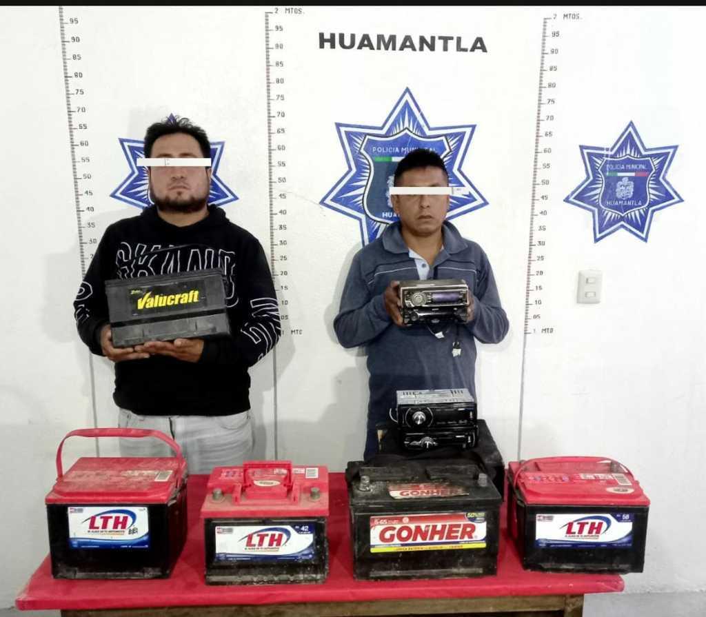 Detienen a dos ladrones de Puebla, por robo de autopartes en Huamantla