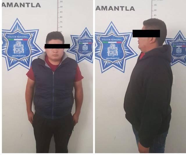 Policías de Huamantla frustran robo a camión de carga