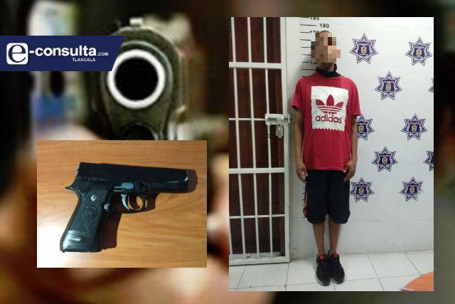 Detienen en Yauhquemehcan  a una persona con una réplica de arma de fuego