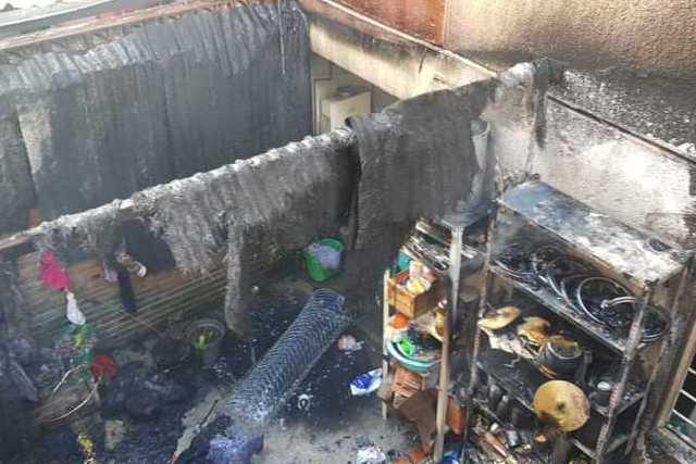 Atiende Protección Civil de la capital incendio en Tlapancalco