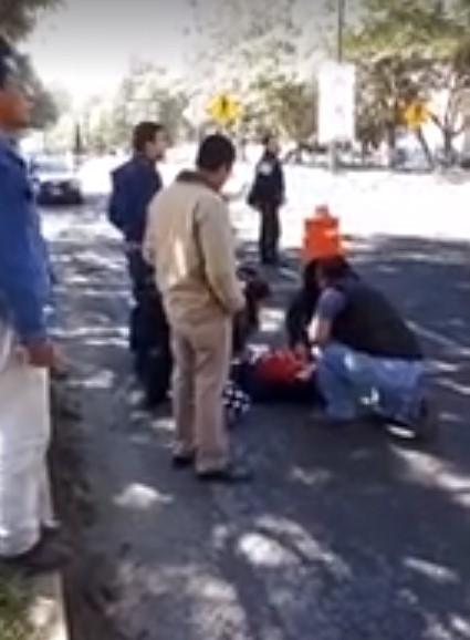 Atropellan a sujeto en la carretera Tlaxcala- Puebla