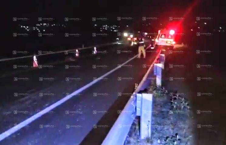 Muere persona atropellada sobre autopista Tlaxcala- Puebla