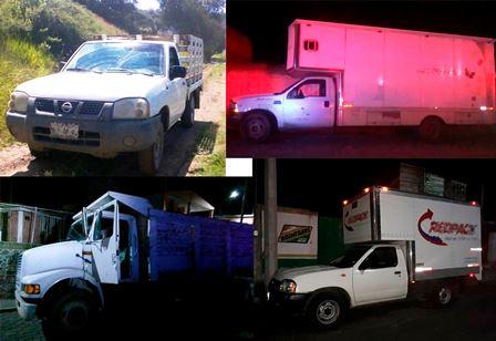 Policía Estatal recupera cuatro vehículos en la entidad