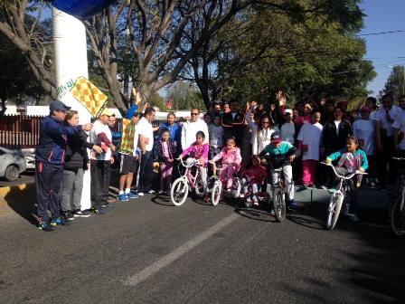 Realizan jornada de activación física en la capital tlaxcalteca