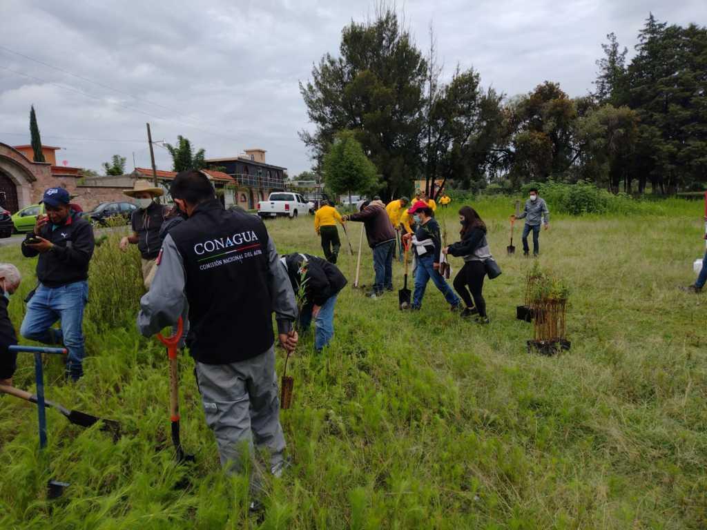Inicia Conagua trabajos de delimitación de la zona federal en la laguna de Acuitlapilco
