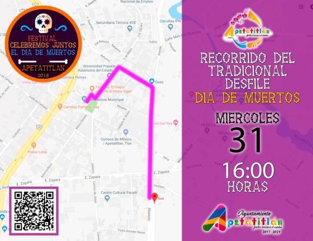 Se realizará tradicional desfile de muertos en calles de Apetatitlán
