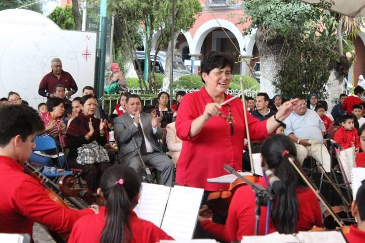 Realiza Apetatitlán concierto de la Orquesta Sinfónica Infantil de Apizaco