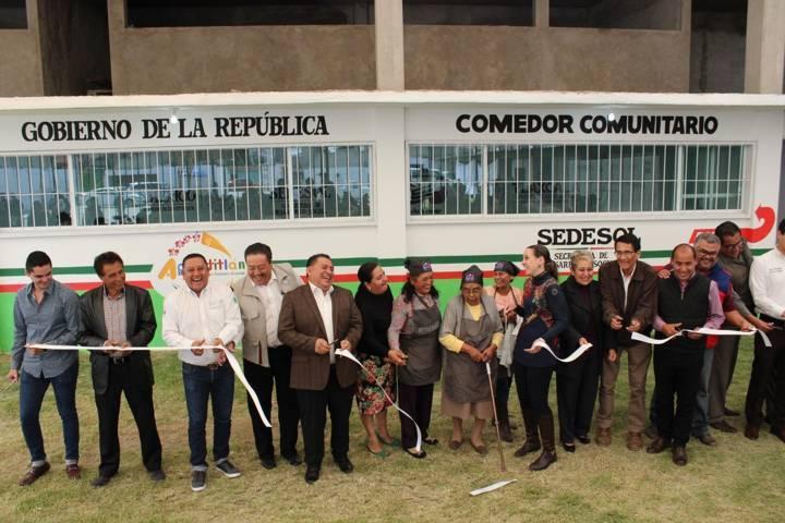 Inauguran comedor comunitario en Apetatitlán