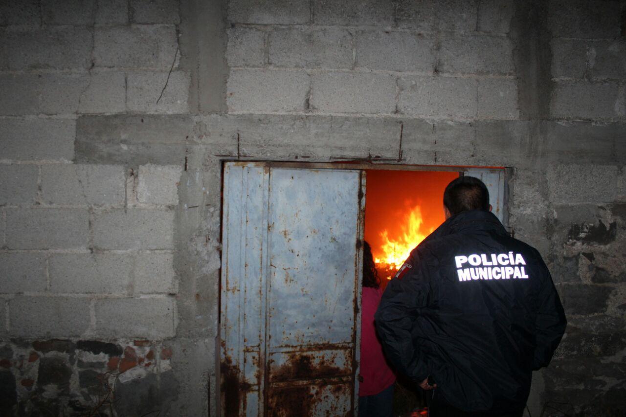 Quemazón movilizó a los cuerpos de auxilio y policía en Apizaco