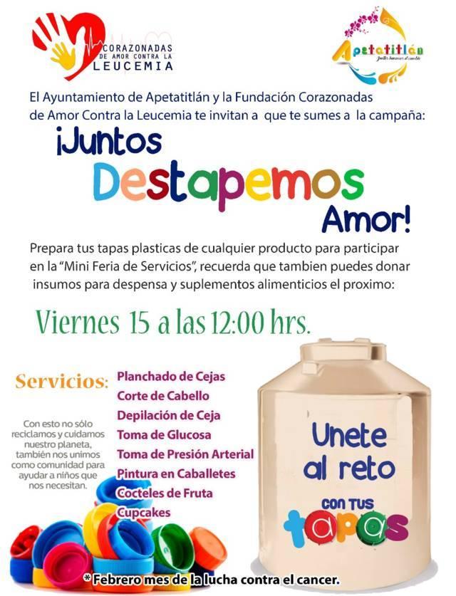 "Anuncia Apetatitlán campaña ""Juntos Destapemos Amor"""