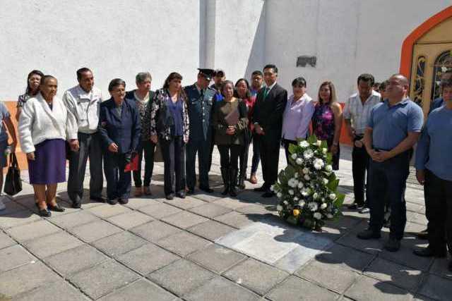En Papalotla conmemoraron el aniversario Luctuoso del General Máximo Rojas
