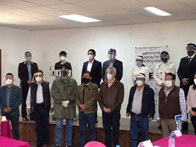 Asiste Garrido a reunión de dirigentes de los partidos políticos con autoridades del ITE