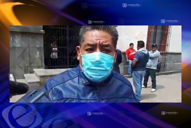 Político tiene tomada la presidencia de Totolac, pero pide mejoras para los policías