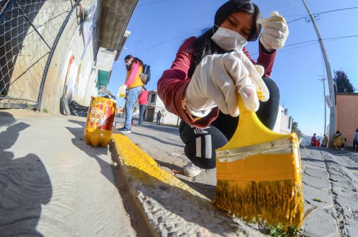 Coordinan esfuerzos en Jornada de Limpieza en Acuitlapilco
