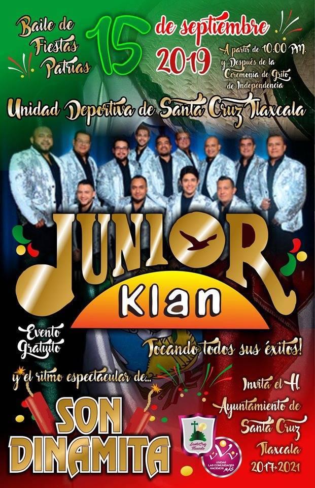 Junior Klan alegrará las fiestas patrias en Santa Cruz Tlaxcala