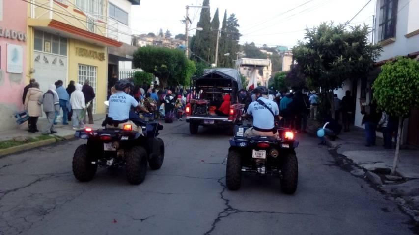Continúa operativo vial en la capital por Bajada De La Virgen