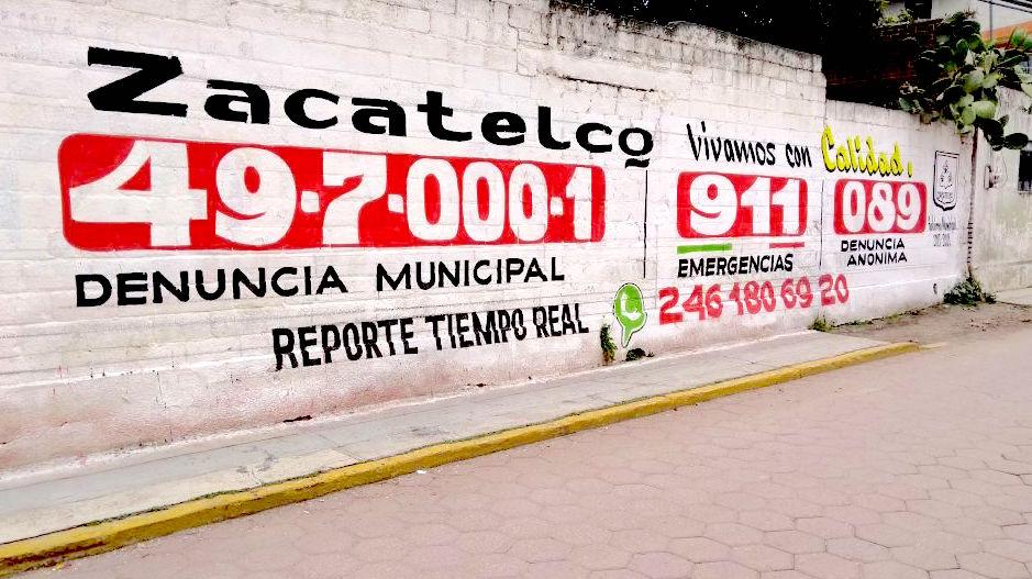 Promueve Zacatelco números de emergencia