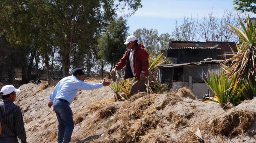 Ayuntamiento de San Pablo del Monte desazolva Barranca Xalpatlalco