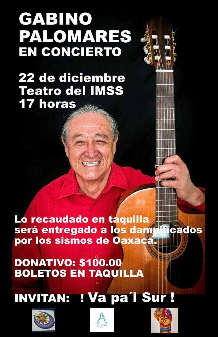 Gabino Palomares ofrecerá concierto en Tlaxcala