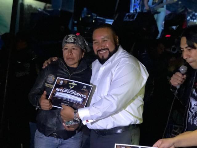 Con una exposición de motos Halcones de Xicohtzinco festejo su 3er aniversario