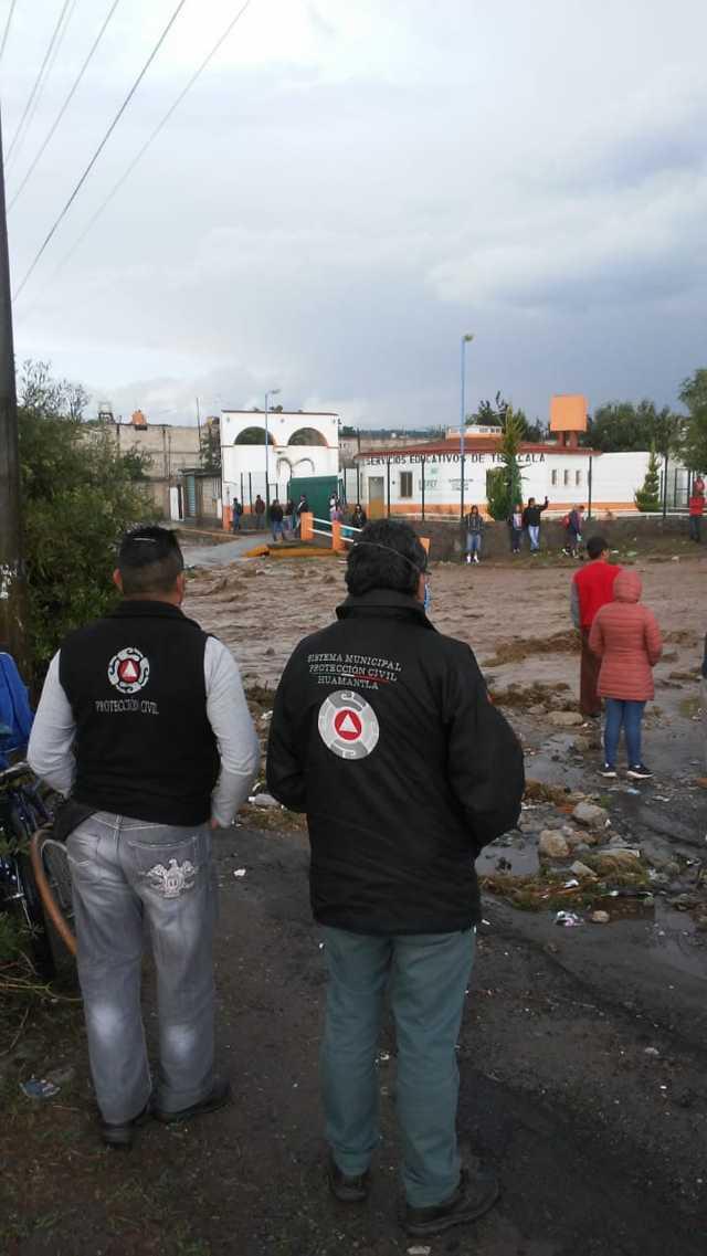 Atiende Protección Civil Municipal de Huamantla reportes de inundaciones