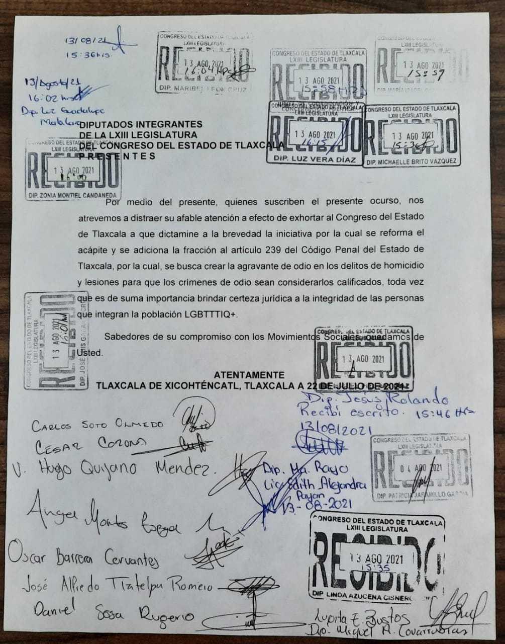 Activistas piden al Congreso tipificar crímenes de odio en Tlaxcala