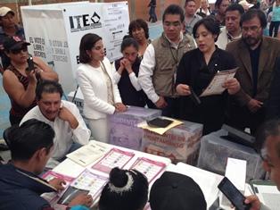 Verifica ITE medidas de seguridad en boletas electorales
