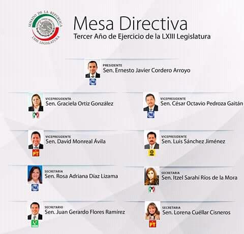 Lorena Cuéllar toma protesta como secretaria de la Mesa Directiva del Senado