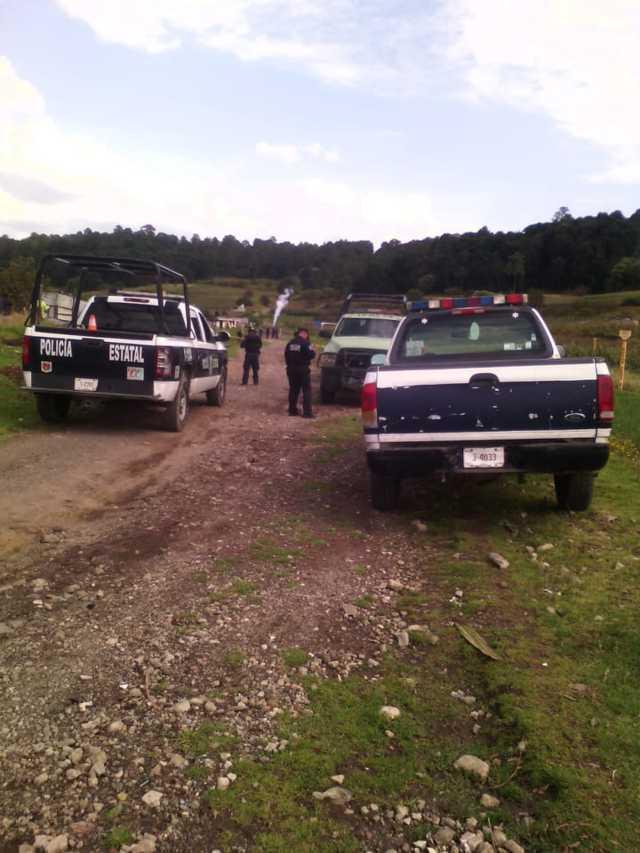 Bomberos y policía estatal atienden la fuga de gas en Nanacamilpa
