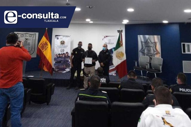 Policía de Zacatelco en constante Capacitación