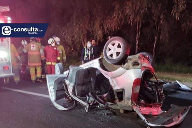 Borrachazo quita vida a mujer en la autopista Tlaxcala-Puebla