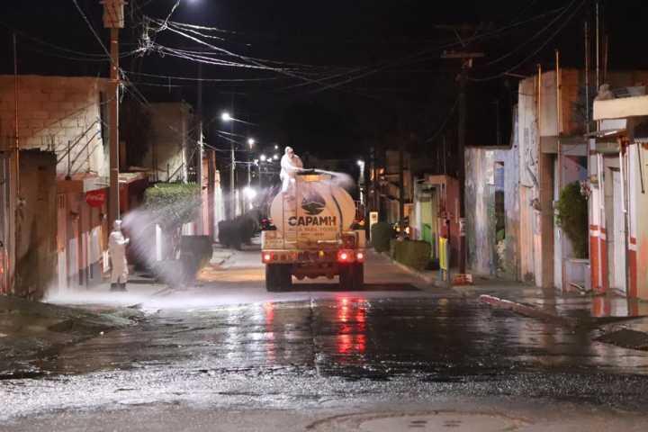 Gobierno Municipal realiza acciones de sanitización en calles de Huamantla