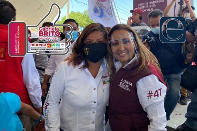 Lorena Cuéllar y Gabriela Brito piden voto en línea para Juntos Haremos Historia