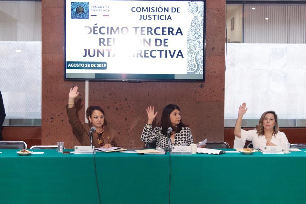 Participa Claudia Pérez en reunión de Junta Directiva de la Comisión de Justicia