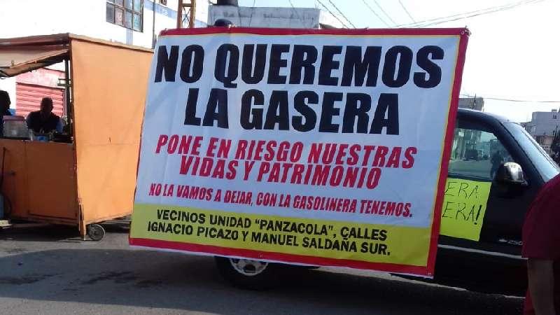Insisten pobladores de Chiautempan en cancelar la instalación de una gasera