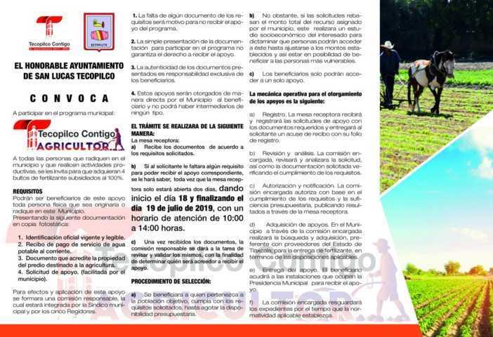 Alcalde fortalece el campo con el pago de contribuciones de los ciudadanos
