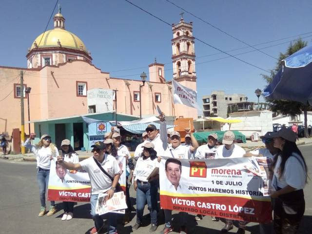 Víctor Castro López, inició actividades de proselitismo en Xaloztoc