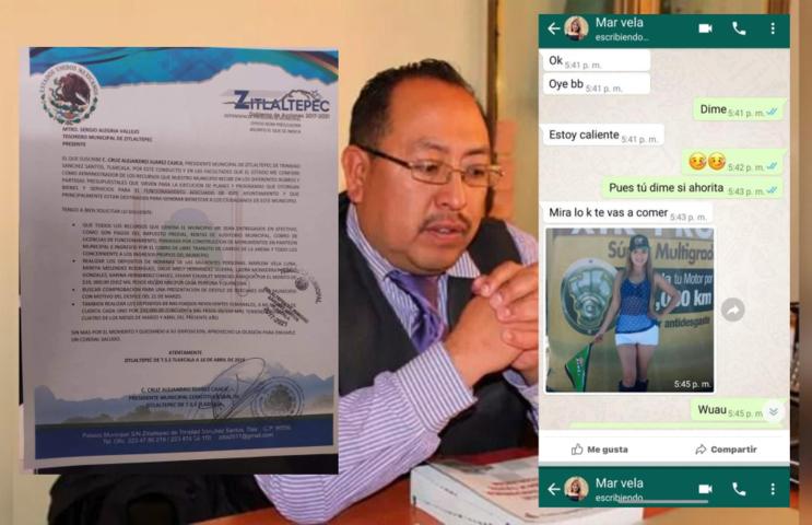 Edil de Zitlaltepec pide que le depositen 60 mil pesos para pago de seis mujeres