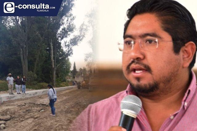 Edil cachondo de Panotla quiere invadir territorio para que vean que si trabaja