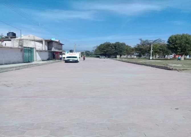 En tiempo y forma concluyen trabajos de pavimento de adoquín en N.C.P. Morelos en Huamantla