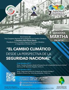 Invita Martha Palafox a foro sobre cambio climático y seguridad nacional