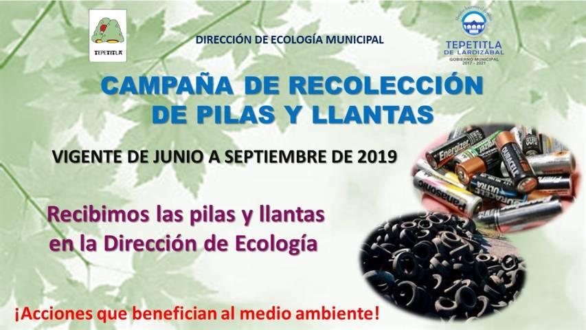 Gobierno de Lardizábal invita a participar en campaña de recolección de pilas y llantas