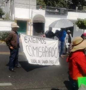 Manifestantes exigen Comisariado Ejidal para Zacatelco