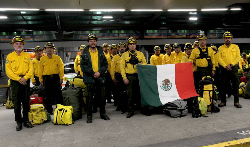 Refuerza México apoyo a Canadá con 6to contingente de combatientes