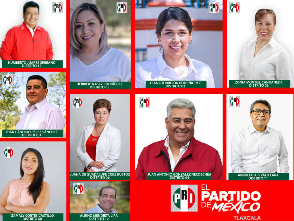Registra PRI a candidatos a diputados locales ante el ITE
