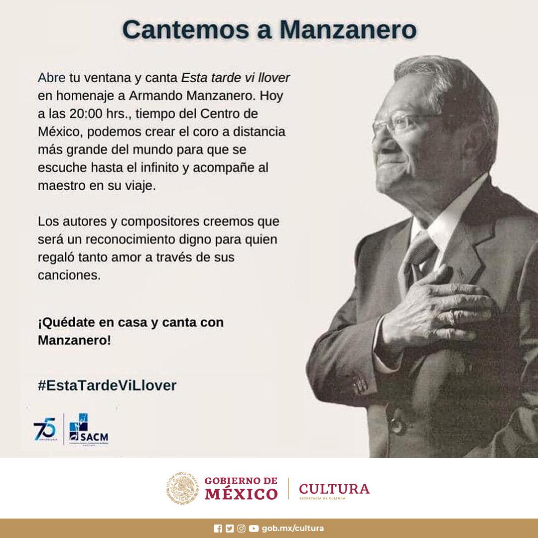 La Secretaría de Cultura alista el Homenaje Nacional a Armando Manzanero