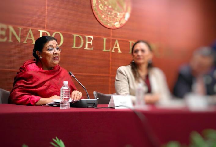 Desmiente Martha Palafox desbandada al PRD en el Senado